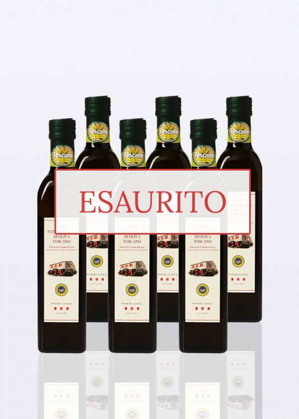 olio extravergine oliva igp toscano 0,50lt 6 bottiglie esaurito
