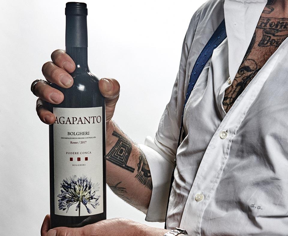 Podere Conca Bolgheri bottiglia Agapanto vino rosso