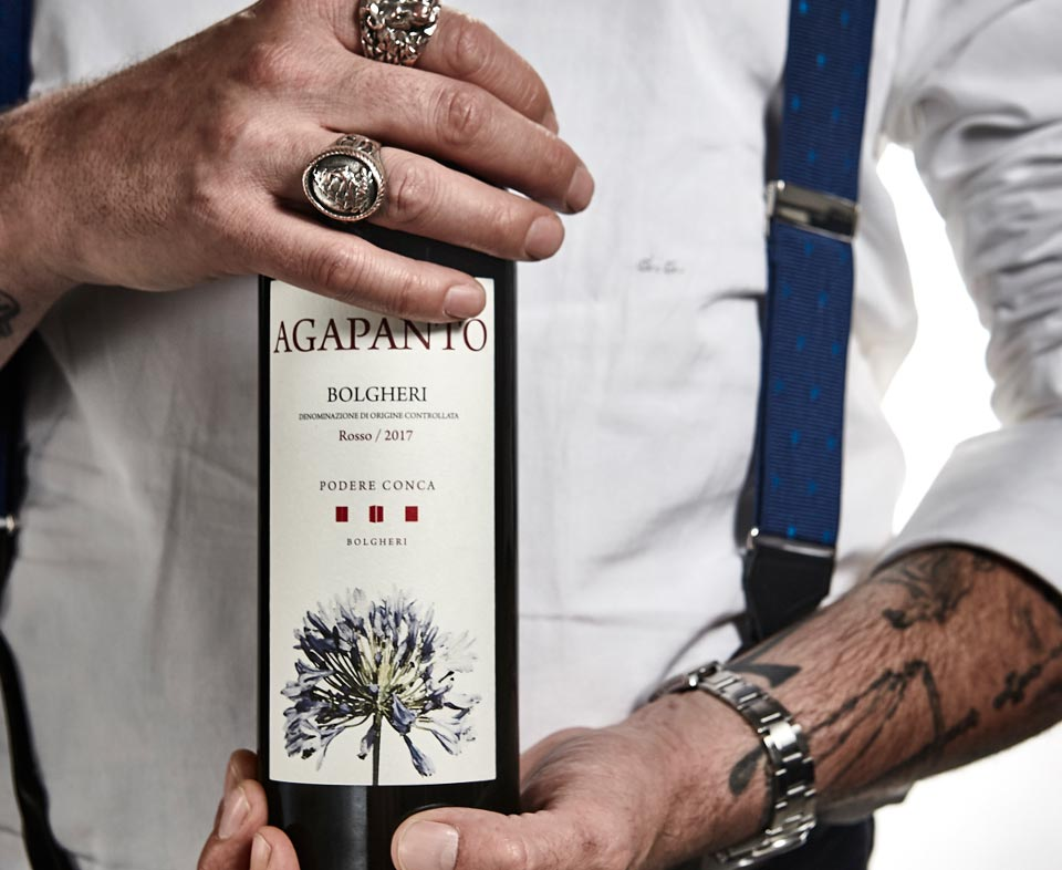 Podere Conca Bolgheri bottiglia di Agapanto
