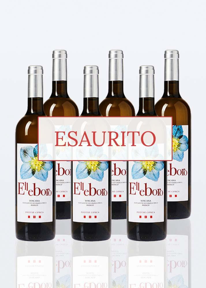 Esaurito elleboro vino bianco IGT toscana bianco 6 bottiglie