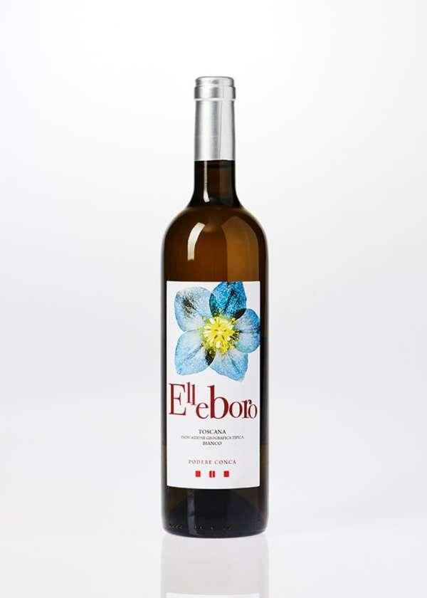 Bottiglia di vino bianco Elleboro da 0,75 litri