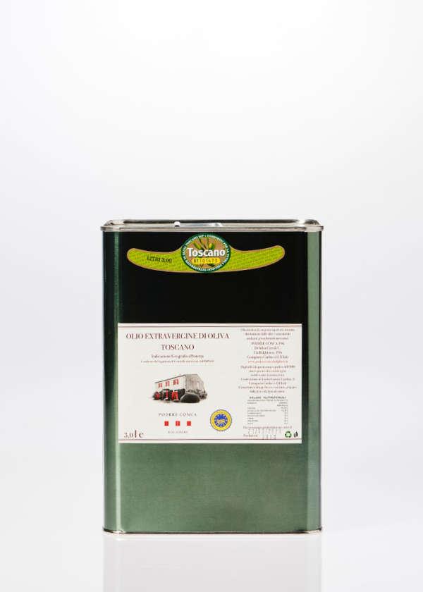 Latta di Olio Extra vergine di oliva IGP Toscano da 3 litri