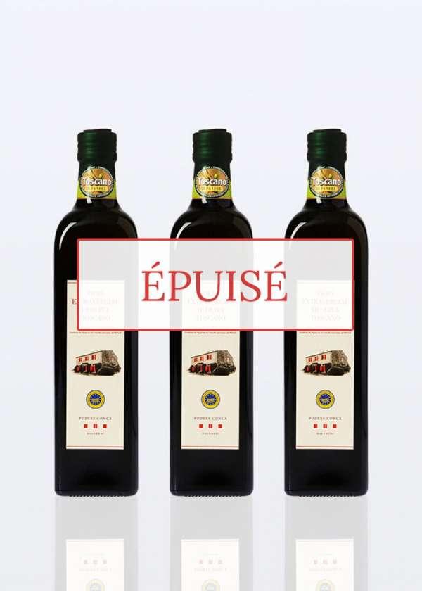 3 bouteilles 075 huile olive extra vierge BIO IGP Toscane épuisé