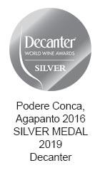 Podere-Conca-Bolgheri-Decanter-medaglia-argento-2019-Agapanto