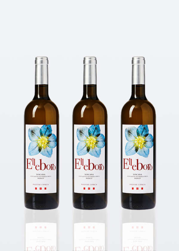 3 bottiglie di Vino Bianco IGT Toscana Elleboro lt 0,75