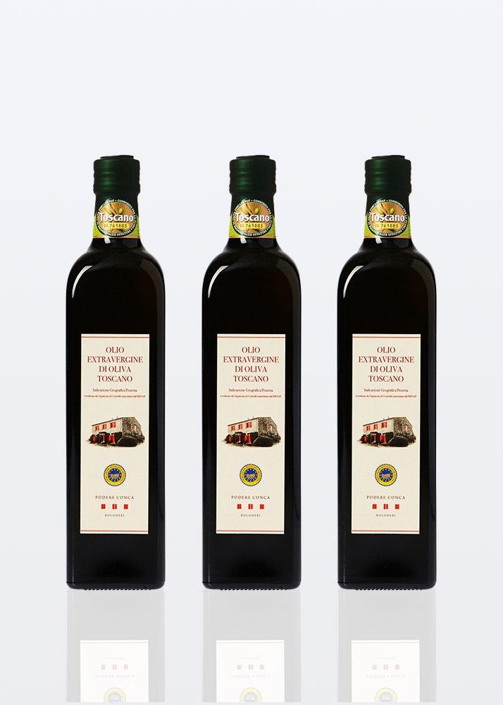 3 bottiglie di Olio Extravergine d'Oliva Toscano