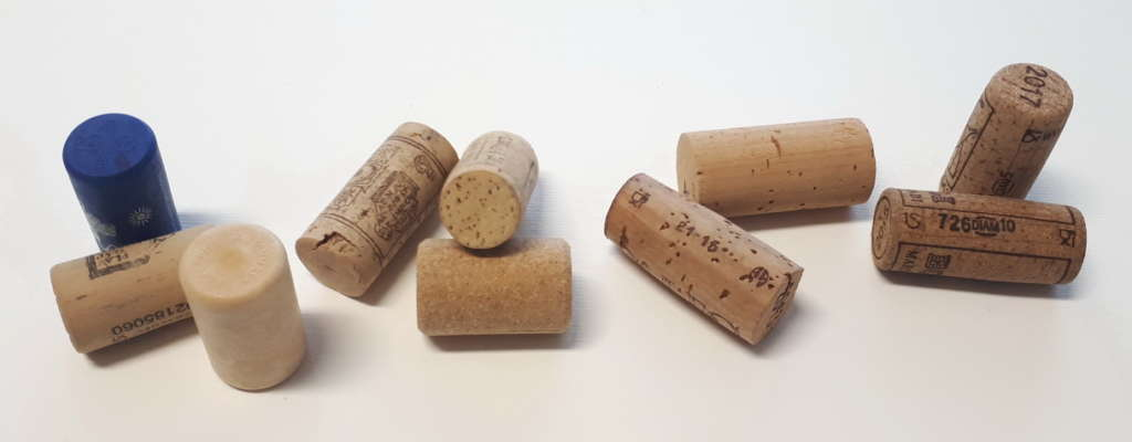 Ten different types of corks