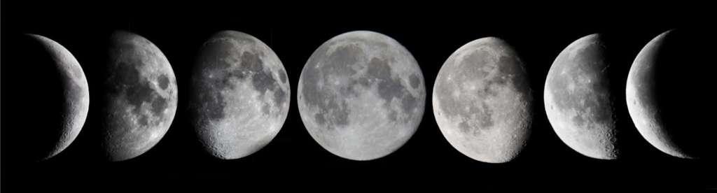 Le varie fasi della luna