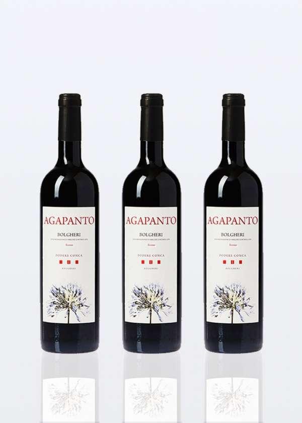 3 bouteilles de Vin Rouge Bolgheri DOC Agapanto
