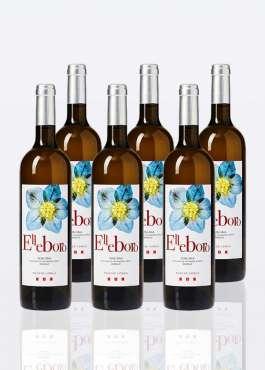 6 bouteilles de vin blanc IGT Toscan Elleboro