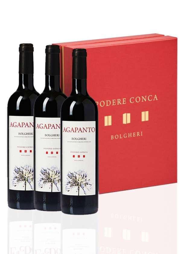 Boîte-cadeau 3 Agapanto Vin Rouge Bolgheri DOC
