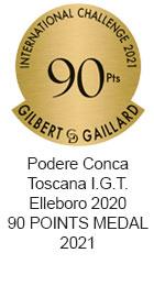 Premio Toscana I.G.T. Elleboro 2020 90 POINTS MEDAL 2021