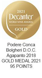 GOLD MEDAL 2021 Bolgheri D.O.C. Agapanto 2018