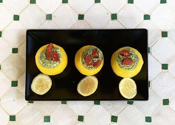 Limoni ripieni di tarda estate