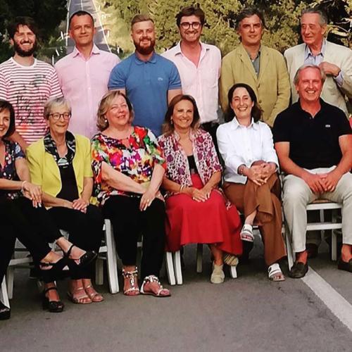 Podere Conca 25 anni della DOC Bolgheri foto di gruppo degli invitati alla festa